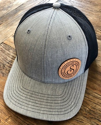 Gray/Navy Hat with Patch