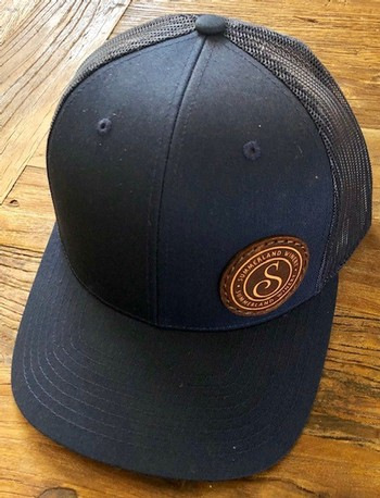 Navy Hat with Patch