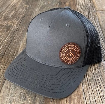 Charcoal/Black Hat with Patch